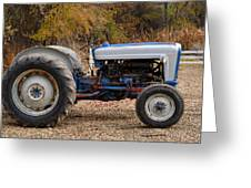 My Faithful Tractor Greeting Card