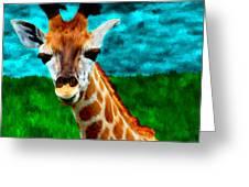 My Favorite Giraffe Greeting Card