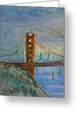 My Golden Gate Bridge Greeting Card by Anais DelaVega