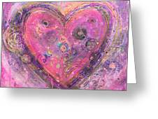 My Heart Of Circles Greeting Card