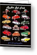 Hot Rod Ford Poster Greeting Card