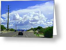 My House Over The Hill Under The Clouds Greeting Card