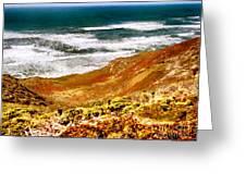 My Impression Of California Coastline Greeting Card