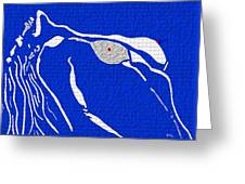 My Lady In Blue Greeting Card