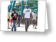 My Little Brother And I At Cedar Point Greeting Card