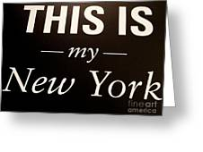 My New York Greeting Card