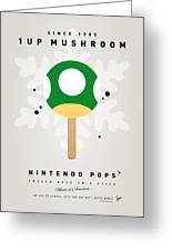 My Nintendo Ice Pop - 1 Up Mushroom Greeting Card by Chungkong Art