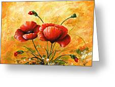 My Poppies 047 Greeting Card