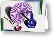 My Purple Fan Greeting Card