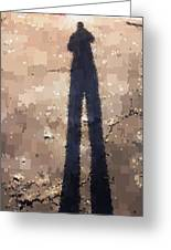 My Shadow Standing Greeting Card