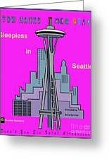 My Sleepless In Seattle Movie Poster Greeting Card