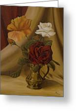 My Small Roses Greeting Card