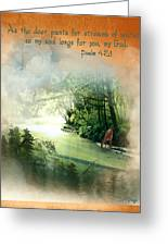 My Soul Longs For You Greeting Card