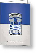 My Star Warhols R2d2 Minimal Can Poster Greeting Card