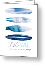 My Surfspots Poster-1-jaws-maui Greeting Card by Chungkong Art