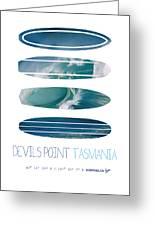 My Surfspots Poster-5-devils-point-tasmania Greeting Card