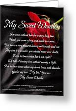 My Sweet Wonder Poetry Art Greeting Card