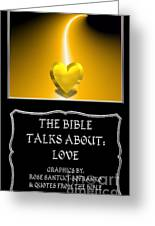 My The Bible Talks About Love Book Greeting Card