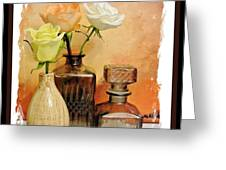 My Three Roses Still Life Greeting Card