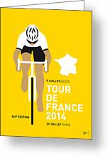 My Tour De France Minimal Poster 2014 Greeting Card