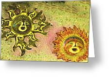 My Two Suns Greeting Card
