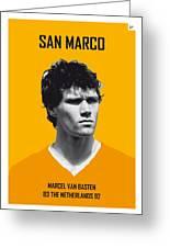 My Van Basten Soccer Legend Poster Greeting Card