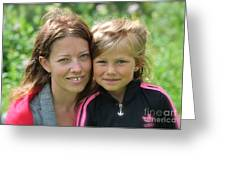My With Mother. Sweden. Greeting Card