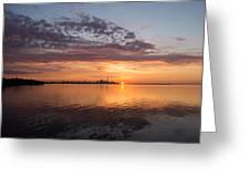 My World This Morning - Toronto Skyline At Sunrise Greeting Card