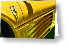 My Yellow Ferrari Greeting Card