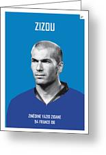 My Zidane Soccer Legend Poster Greeting Card
