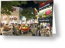 Myeongdong Shopping Street In Seoul South Korea Greeting Card