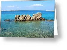 Mykonos Blue Aegean Greeting Card