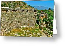 Myra's Roman Theatre In Fourth Century-turkey Greeting Card
