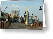 Myrtle Beach Boardwalk Greeting Card