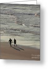 Myrtle Beach Walking Buddies Greeting Card