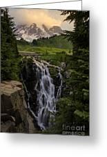 Myrtle Falls Morning Light Greeting Card