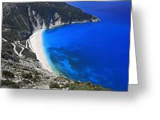 Myrtos Beach Kefalonia Greece  Greeting Card