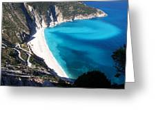Myrtos Greeting Card