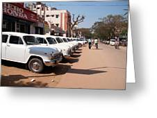 Mysore Taxis Greeting Card