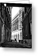 Mysteries In Rome Greeting Card by John Rizzuto