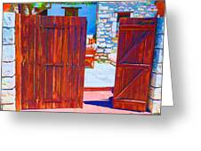 Mysterious Courtyard Greeting Card