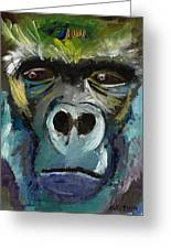 Mysterious Gorilla  Greeting Card