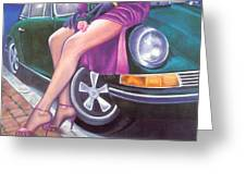 Mystery On Peter's Porsche Greeting Card