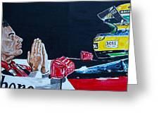 Mystic Ayrton Senna Greeting Card