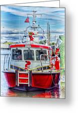 Mystic Fireboat Greeting Card