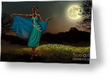 Mystic Moonlight V1 Greeting Card by Bedros Awak