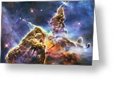 Mystic Mountain Greeting Card by Adam Romanowicz