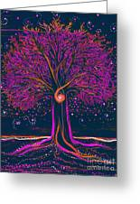 Mystic Spiral Tree 1 Pink By Jrr Greeting Card