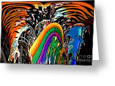Mystic Stripers Tiger Emblem Abstract Greeting Card