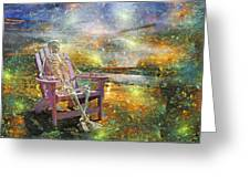 Mystical Sam On Topsail Greeting Card by Betsy C Knapp